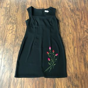 🎀{CDC} FLORAL BLACK DRESS 💯 AUTHENTIC